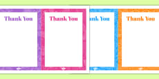 70th Birthday Party Thank You Notes