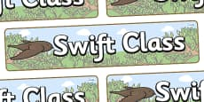 Swift Themed Classroom Display Banner