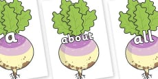 100 High Frequency Words on Enormous Turnip