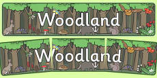 Woodland Display Banner