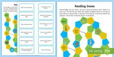 Reading Comprehension Board Game