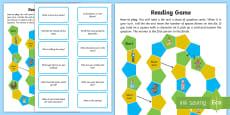 Reading Comprehension Board Game