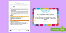 EYFS Tennis Ball Finger Gym Plan and Resource Pack