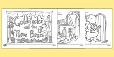 Goldilocks and the Three Bears Mindfulness Colouring Story
