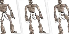A-Z Alphabet on The Iron Man
