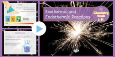 Endothermic and Exothermic Reactions - Chemistry Week PowerPoint