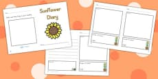 Australia - Sunflower Diary Writing Frame