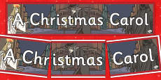 A Christmas Carol Display Banner