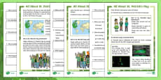 KS1 St. Patrick's Day Differentiated Comprehension Go Respond Activity Sheets