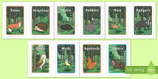 Ikea Tolsby Editable Woodland Animals Group and Table Signs