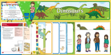 Childminder EYFS Resource Pack to Support Teaching on Harry and the BucketFul of Dinosaurs