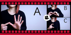 How to Fingerspell The New Zealand Sign Language Alphabet Video Clip Close Up