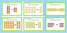 Year 1 Array Subtraction Challenge Cards