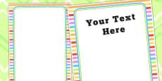 Rainbow Themed Birthday Party Editable Poster