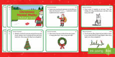 Year 1 Christmas Mental Maths Challenge Cards