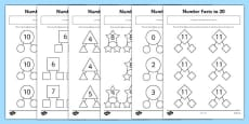 Number Facts to 20 Part Whole Activity Sheet Pack