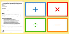 Maths Operations Symbols Flashcards