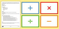 Maths Operations Symbols Flashcards