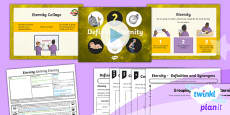 PlanIt - RE Year 6 - Eternity Lesson 1: Defining Eternity Lesson Pack