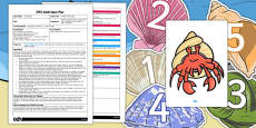 Number Shells Game EYFS Adult Input Plan and Resource Pack