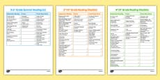 Common Core USA Summer Reading Checklists