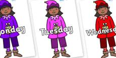 Days of the Week on Girl Elves (Multicolour)