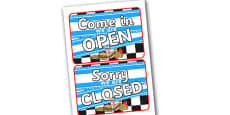 American Diner Role Play Open Closed Sign