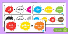 Colour Mixing Pack French Translation