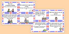 British Value Cards Romanian Translation
