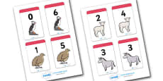 Number Bonds to 6 Matching Cards (Animals)