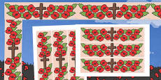 Remembrance Day Display Borders - Australia
