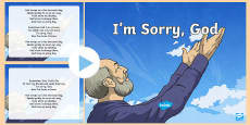 * NEW * I'm Sorry God Song PowerPoint