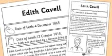 Edith Cavell Significant Individual Fact Sheet