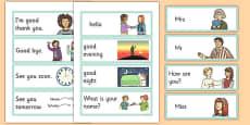 Greetings Flashcards English