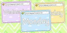 Days of the Week Playdough Mats