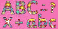 Diwali Rangoli Pattern A4 Display Lettering