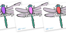 Months of the Year on Dragonflies