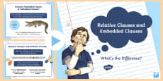 Relative and Embedded Clauses - What's the Difference?