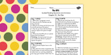BFG Guided Reading Questions Chapter 21