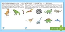 Piedras para la expresión oral: Los dinosaurios
