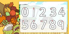 Harvest Number Formation Activity Sheet