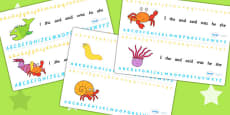 Alphabet Strips to Support Teaching on Sharing a Shell