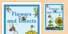 Flowers and Insects Book Cover