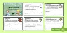 KS2 Conservation Scenario Question Cards