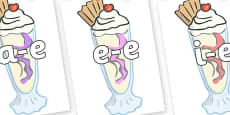 Modifying E Letters on Ice Cream Sundaes