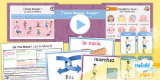 PlanIt - French Year 4 - On the Move Lesson 4: I Like to Move It Lesson Pack