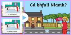 * NEW * Where is Niamh? PowerPoint Gaeilge