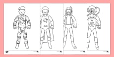 Action Toy Colouring Sheets