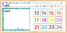 Odd and Even Number Sorting Activity