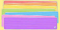 Editable Banner Stripes